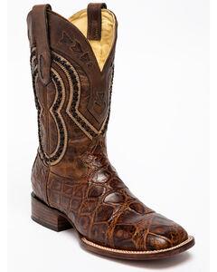 Corral Alligator Cowboy Boots - Square Toe , Grey, hi-res