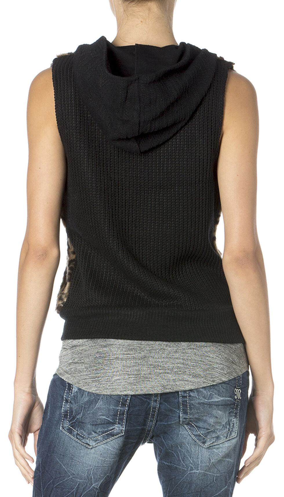 Miss Me Wild Life Hoodie Vest, Black, hi-res