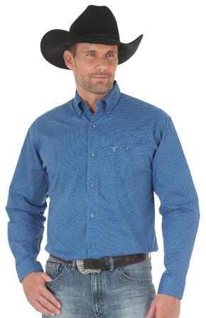 Wrangler 20X Men's Blue Advanced Comfort Competition Shirt - Big & Tall, Blue, hi-res