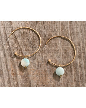 Shyanne Women's Textured Bead Hoop Earrings, Gold, hi-res