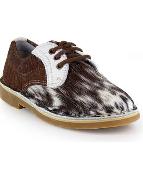 Uwezo Women's Cowhide Oxfords - Round Toe, Multi, hi-res