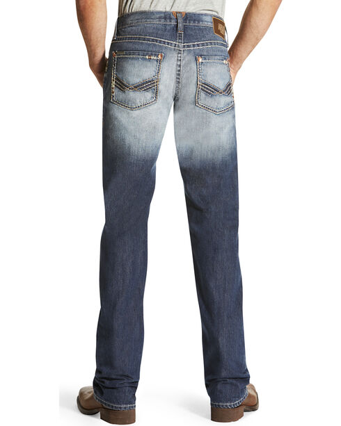 Ariat Men's Indigo M5 Davis Mid Rise Jeans - Straight Leg , Indigo, hi-res