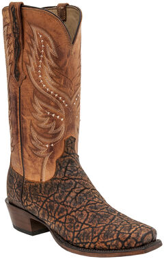 Lucchese Wes Elephant Exotic Western Boots - Square Toe , , hi-res