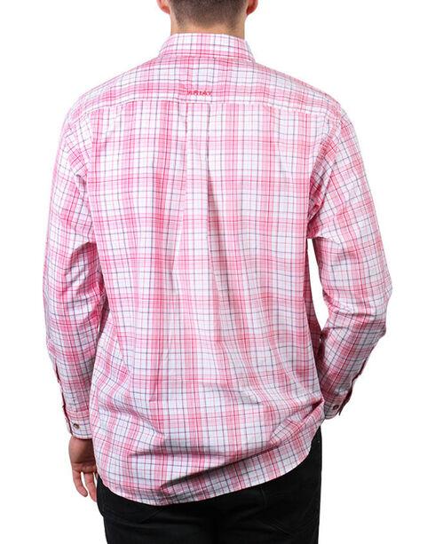 Ariat Men's Coral Nolan Long Sleeve Performance Shirt , Coral, hi-res