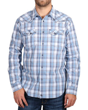 Cody James Men's Light Plaid Long Sleeve Shirt, Light/pastel Blue, hi-res