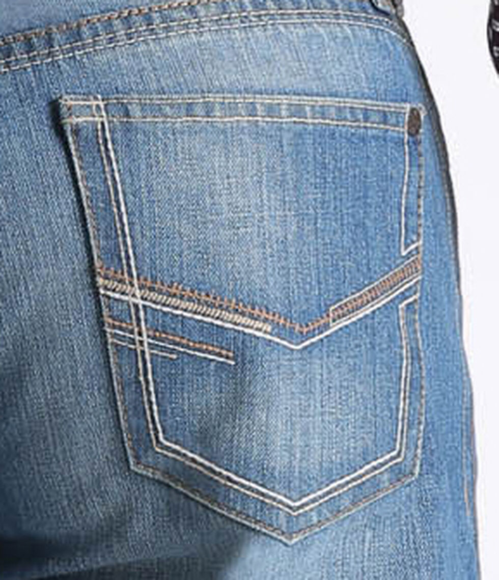 Cinch Men's Grant Mid-Rise Boot Cut Jeans, Indigo, hi-res