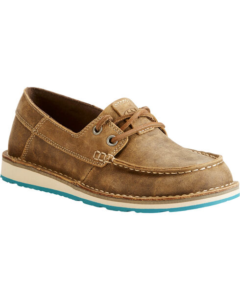 Ariat Women's Brown Cruiser Castaway Bomber Shoes , Brown, hi-res
