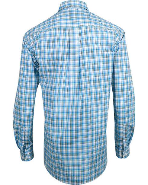 Cinch Men's Plaid Long Sleeve Western Shirt, White, hi-res