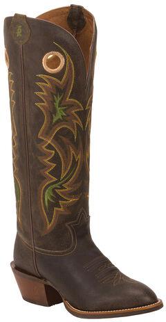 Tony Lama Men's Chocolate Lockhart 3R Buckaroo Boots - Round Toe, , hi-res
