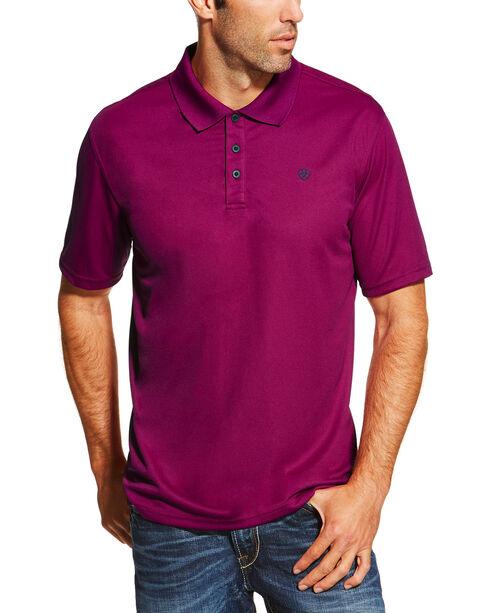 Ariat Men's Violet Short Sleeve Tek Polo , Violet, hi-res