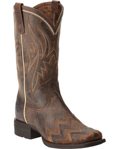 Ariat On Point Sassy Brown Boots - Square Toe, Brown, hi-res