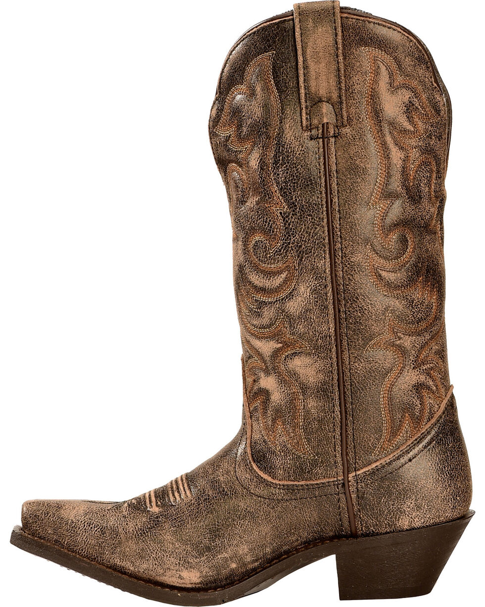 Laredo Access Cowgirl Boots - Extended Calf Sizes - Snip Toe, Black, hi-res