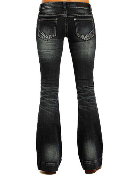 Rock & Roll Cowgirl Women's Trouser Jeans - Boot Cut , Blue, hi-res