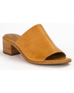 Frye Women's Natural Cindy Mule Heels , Natural, hi-res