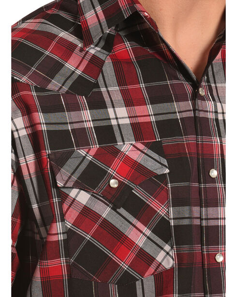Ely Cattleman Men's Red Lurex Plaid Shirt , Red, hi-res
