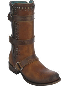 Corral Women's Studded Harness Strap Boots, , hi-res