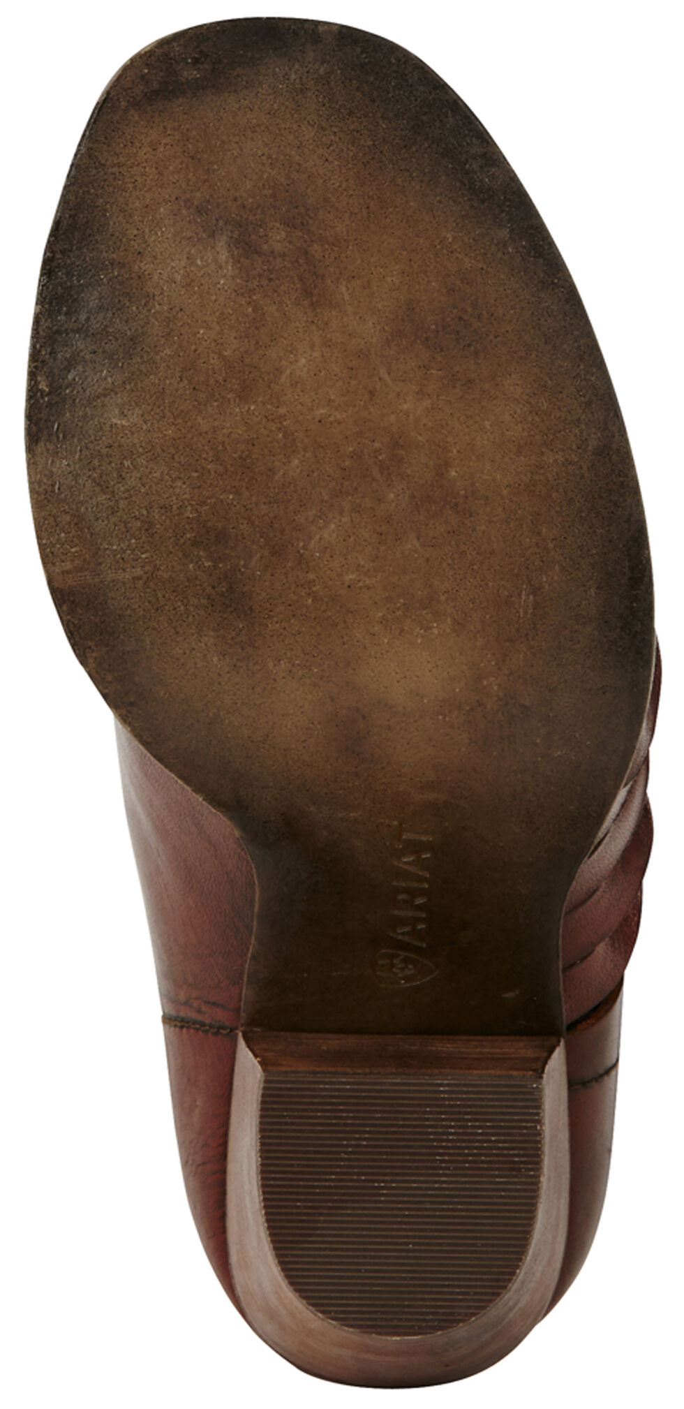 Ariat Women's Dark Brown Lindsley Open Toe Bootie, Dark Brown, hi-res