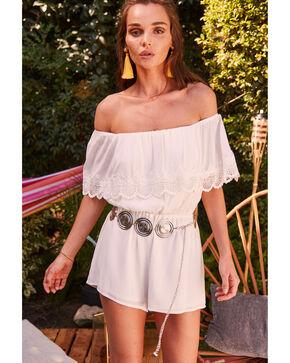 Sage the Label Women's White Dixie Romper , White, hi-res