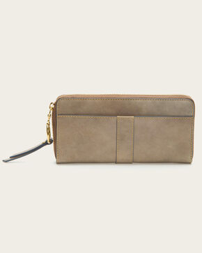 Frye Women's Ilana Harness Zip Wallet , Grey, hi-res