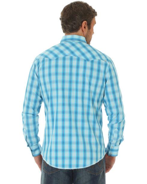 Wrangler Men's Blue Ombre Fashion Western Shirt , Blue, hi-res