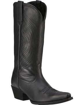Ariat Round Up Cowgirl Boots - Snip Toe, Black, hi-res