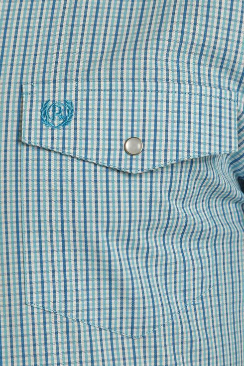 Panhandle Men's Cotton Satin Check Shirt , Blue, hi-res