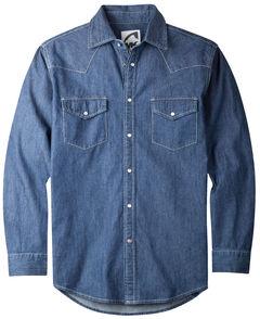 Mountain Khakis Men's Dark Indigo Original Mountain Denim Shirt , Navy, hi-res
