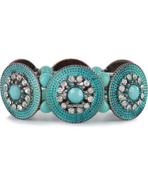 Shyanne Women's Turquoise Concho Bracelet, Turquoise, hi-res