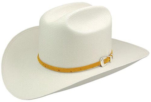Stetson Men's Natural Primo M Straw Hat with Cognac Band, Natural, hi-res