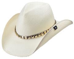 Peter Grimm Drakkar White Straw Cowboy Hat, Ivy, hi-res
