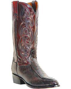 Dan Post Ostrich Leg Boots - Medium Toe, , hi-res