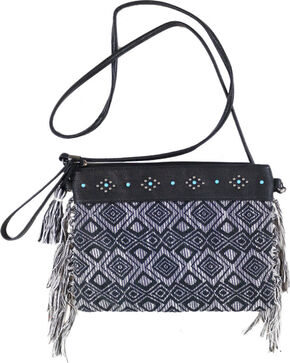 Shyanne Women's Woven Crossbody Bag , Black, hi-res