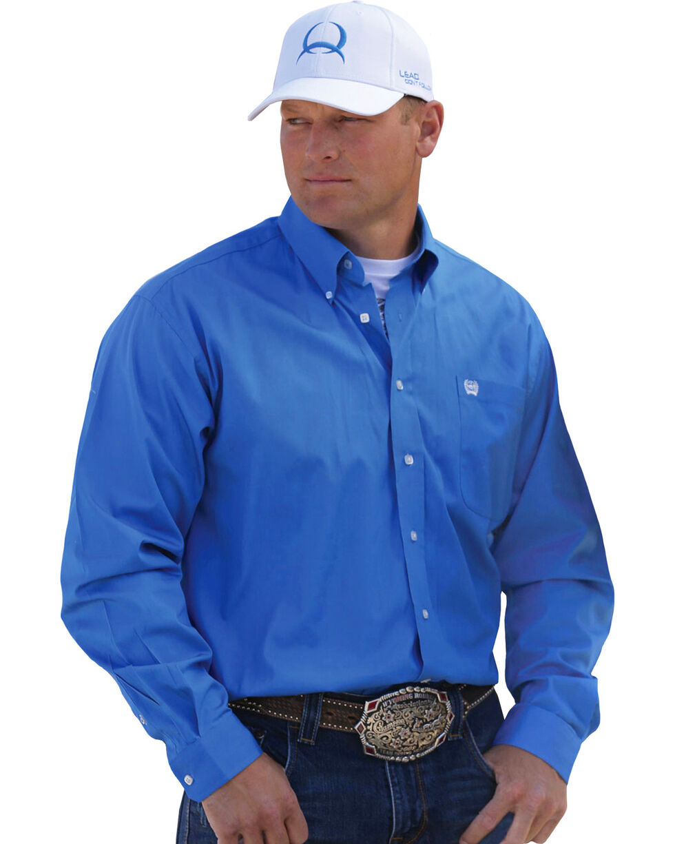Cinch Solid Blue Shirt, Blue, hi-res