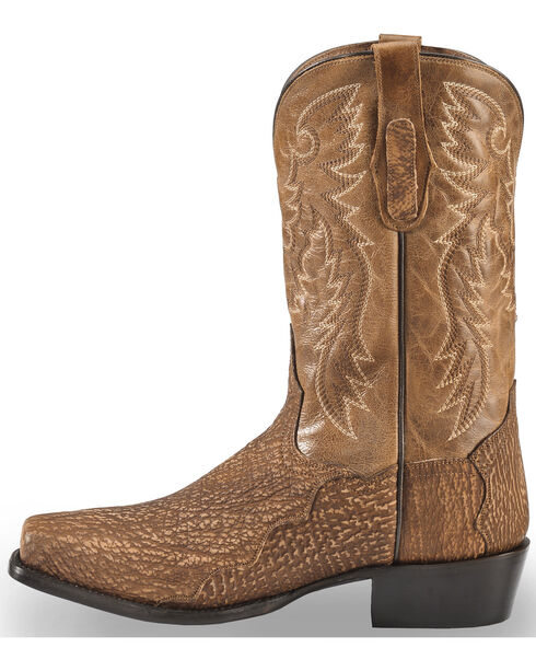 Dan Post Men's Cognac Shark Cowboy Boots - Square Toe, Cognac, hi-res