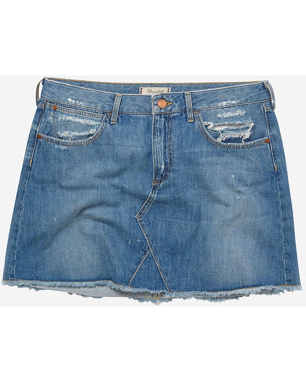 Wrangler Women's 70th Anniversary Denim Mini Skirt, Blue, hi-res