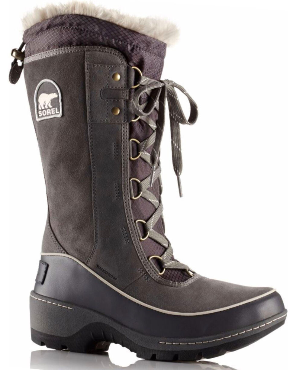 Sorel Women's Grey Tivoli III Waterproof Fleece Lined Boots - Round Toe, Grey, hi-res
