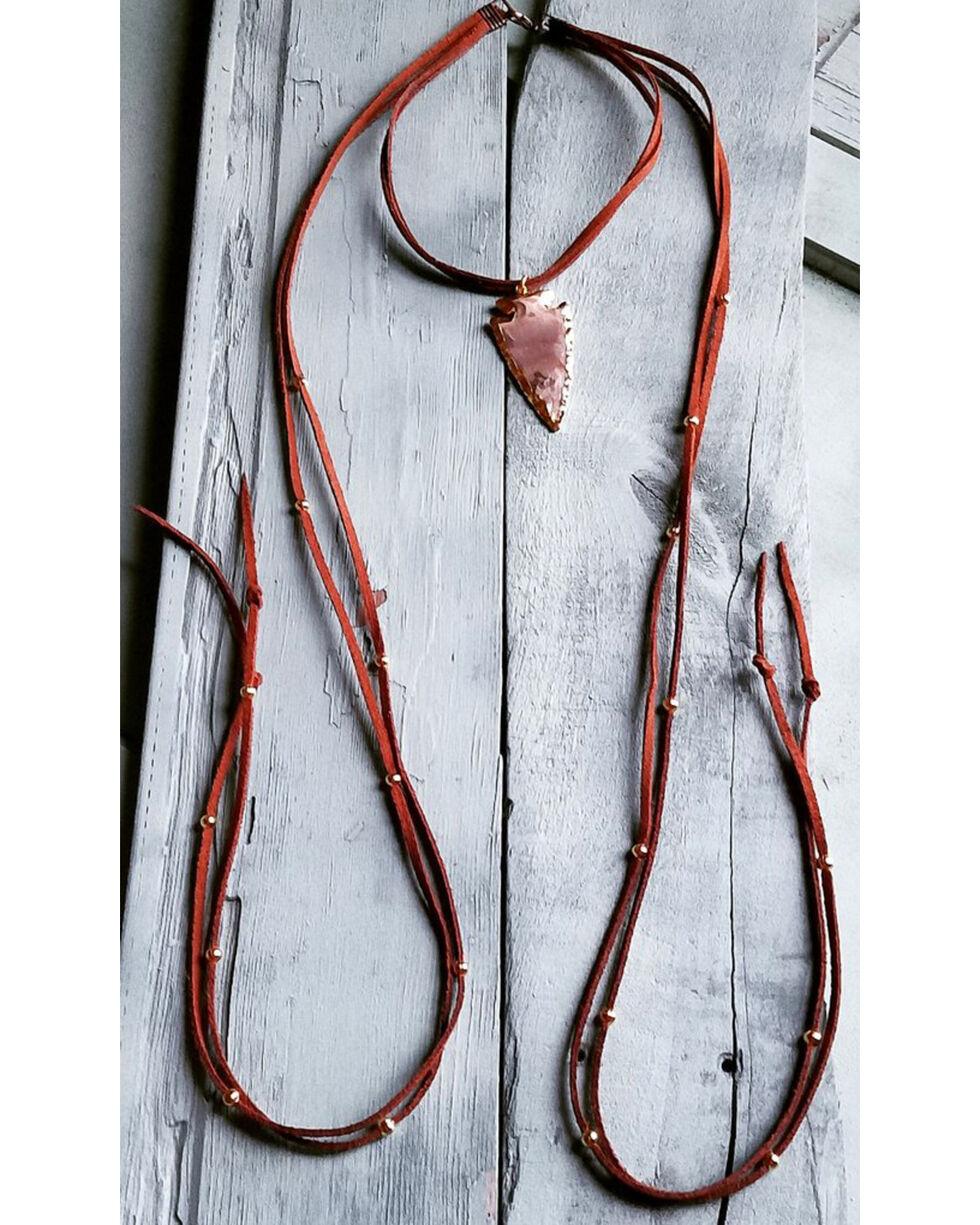 Jewelry Junkie Women's Arrowhead Choker Necklace , Brown, hi-res