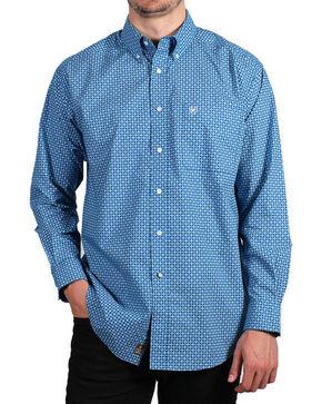 Ariat Men's Fraiser Long Sleeve Button Down Shirt - Tall, Blue, hi-res