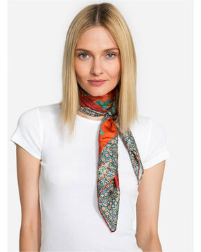 Johnny Was Women's Peacock Silk Twill Scarf, Multi, hi-res