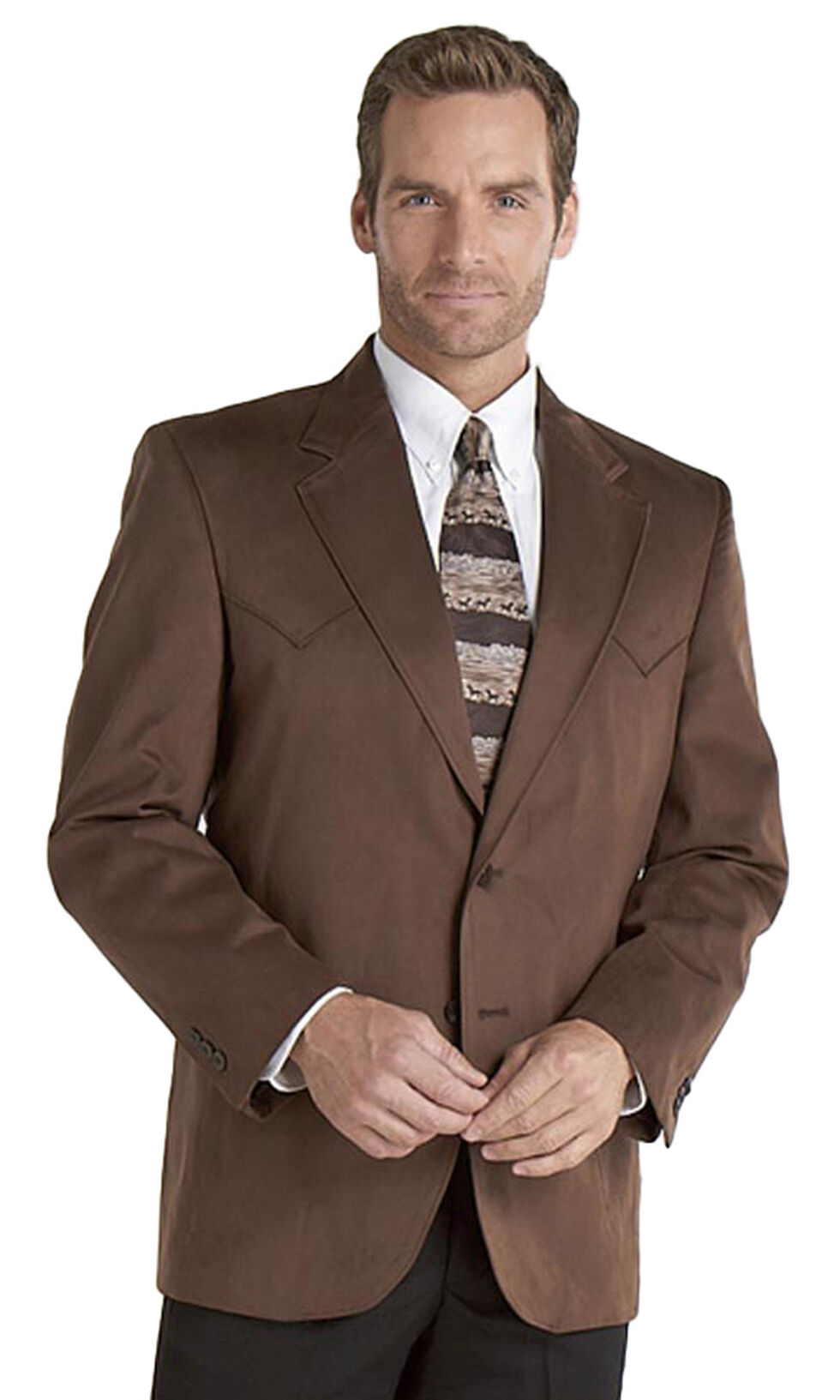 Circle S Microsuede Sport Coat - Big, Chestnut, hi-res
