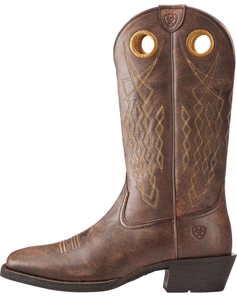 Ariat Men's Brown Heritage Hitchrack Western Boots - Square Toe , Brown, hi-res