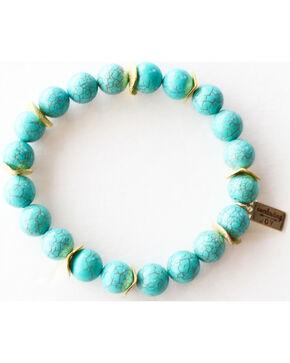 Everlasting Joy Jewelry Women's Turquoise Gold Chip Bracelet , Turquoise, hi-res
