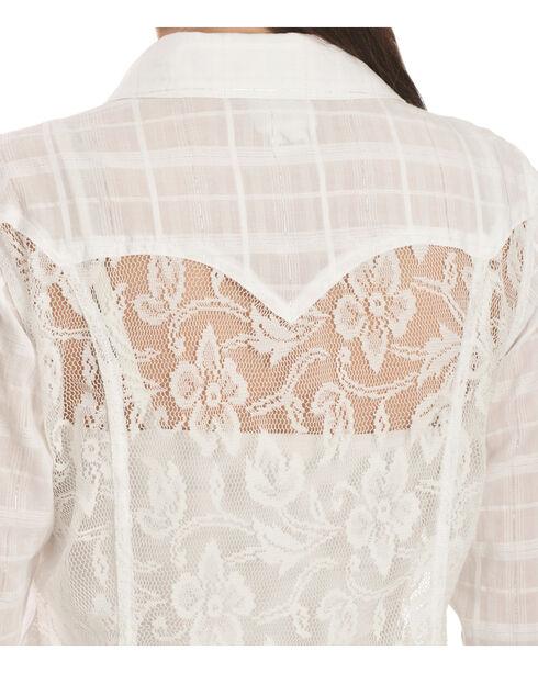 Ariat Tetonia Back Panel Snap Shirt, White, hi-res