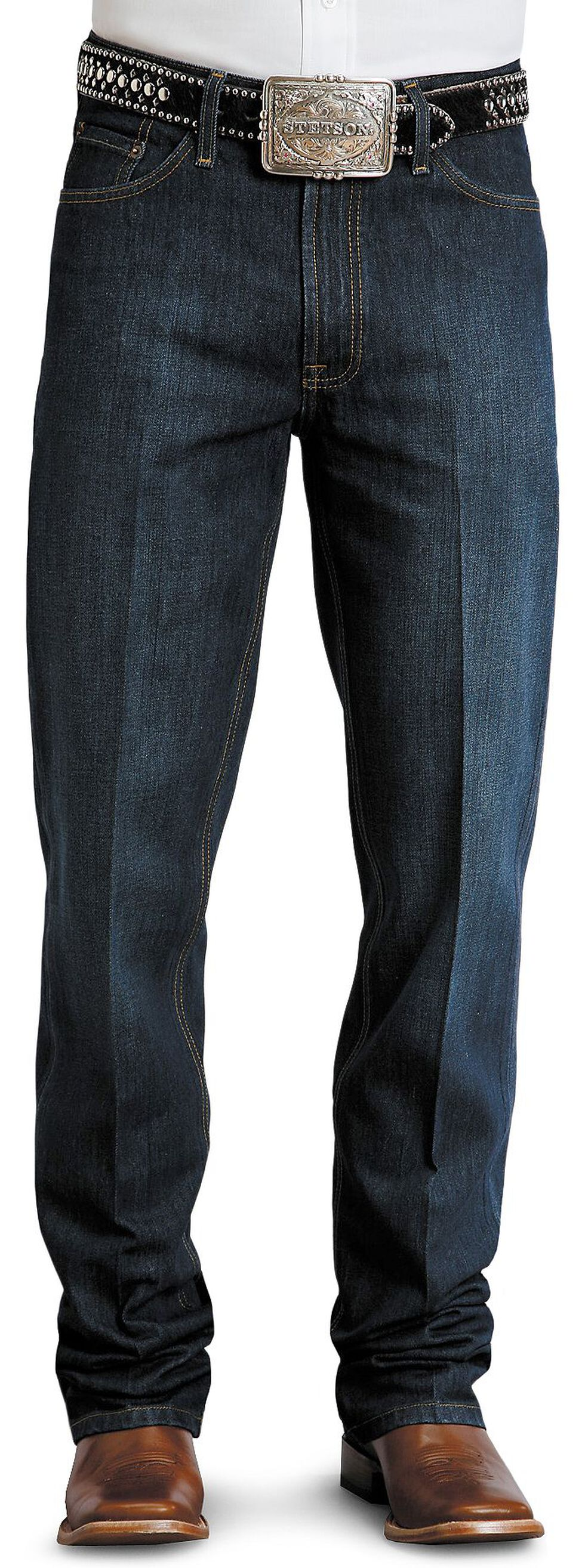 Stetson Standard Relaxed Fit Jeans, Dark Rinse, hi-res