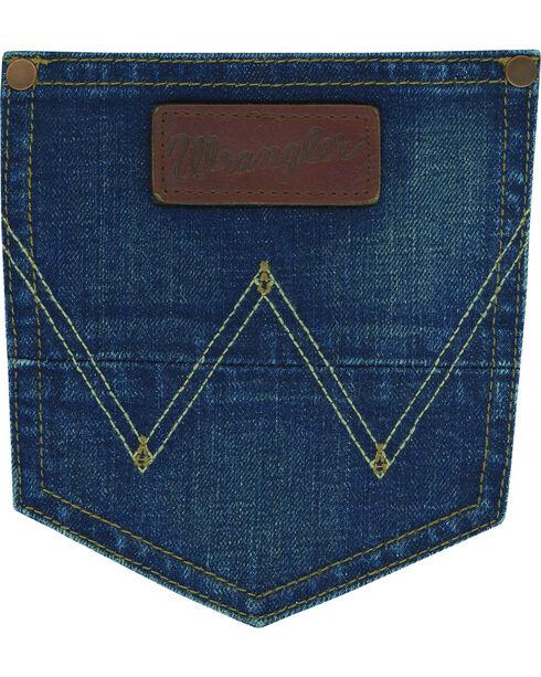 Wrangler Men's Indigo Retro Slim Jeans - Boot Cut - Long, Indigo, hi-res