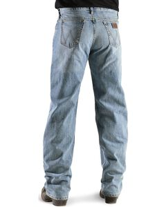 """Wrangler Jeans - 20X Competition Laser Blue Denim Relaxed Fit - 38"""" Tall Inseams, Bleach Indigo, hi-res"""