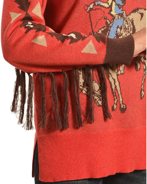 Tasha Polizzi Women's Rodeo Crew Sweater, Red, hi-res