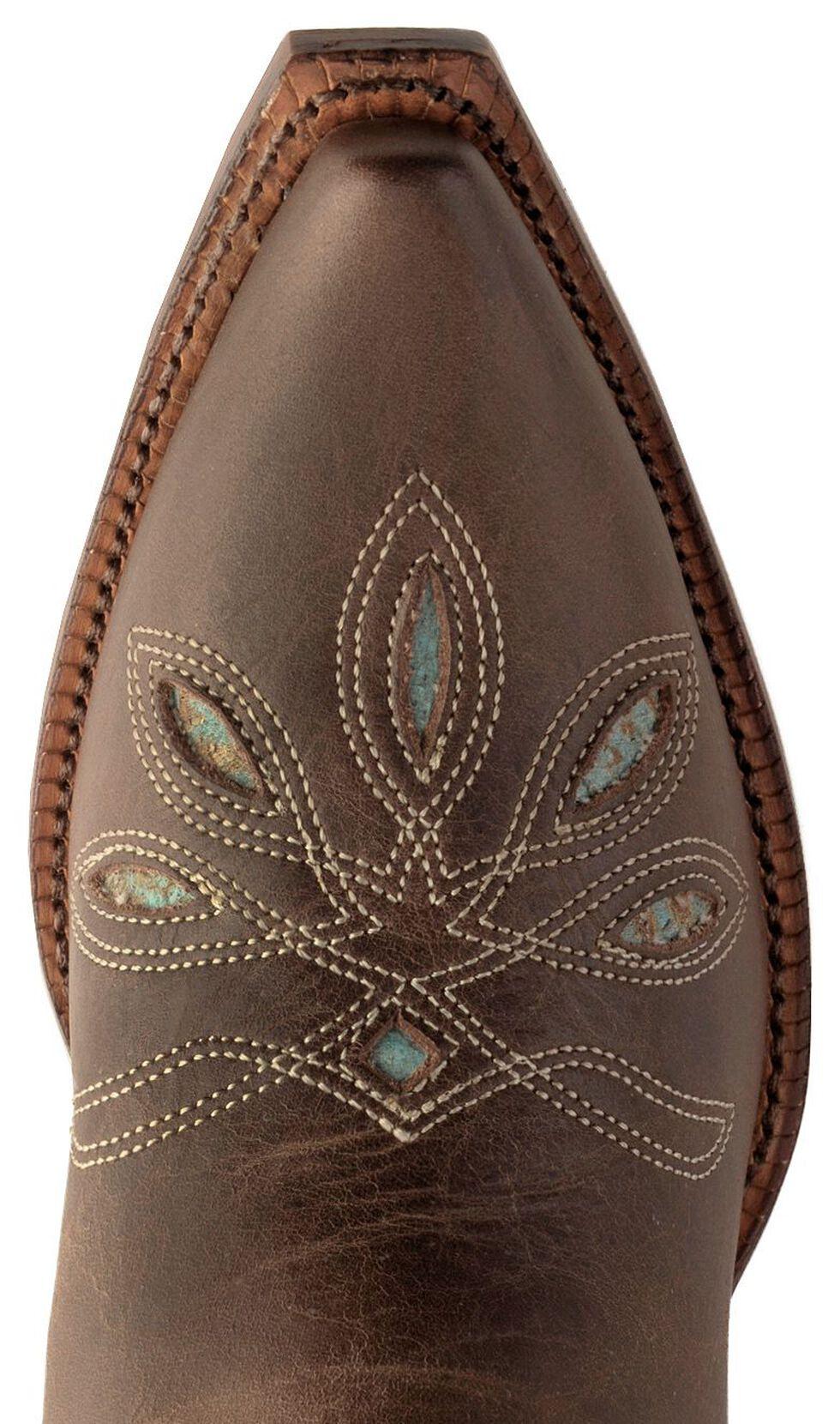 Tony Lama Vaquero Rancho Inlay Cowgirl Boots - Snip Toe, Chocolate, hi-res