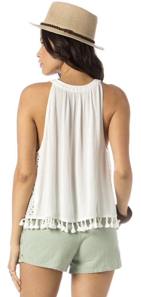 Miss Me Tassle Crop Tank Top, Off White, hi-res