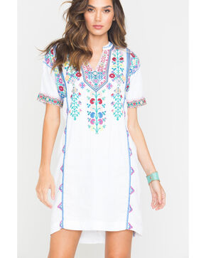 Johnny Was Women's White Clover Easy Tunic Dress , White, hi-res